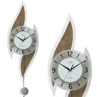 JVD◆NS18051 / 78◆モダンなデザインの壁掛け時計◆振り子時計◆チェコ共和国、東欧時計