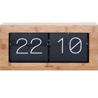 カールソン◆KARLSSON KA5642BK◆フリップ時計 パタパタ時計(竹)◆Boxed Flip Clock