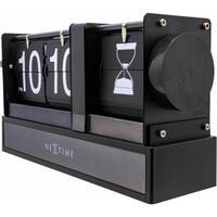 NEXTIME◆NEXT  5216ZW◆砂時計フリップ 置き時計◆27.8 x 7.6 x 14cm◆Hourglass Flip