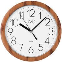 JVD◆H612.19◆ノイズレスクロック 壁掛け時計 (ライト茶)◆チェコ共和国、東欧時計