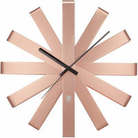 アンブラ◆Umbra 118070-880◆ステンレスリボン壁掛け時計◆銅◆ミシェル・イヴァンコビッチ