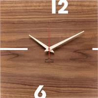 HUAMET◆CH11-B-00◆Puhrナットスクエア・木目の壁掛け時計◆南チロル
