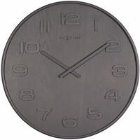 NEXTIME◆NEXT  3096GS◆ウッドウッドミディアム壁掛け時計(グレー)◆ø  35cm x 3 cm◆WOOD WOOD MEDIUM