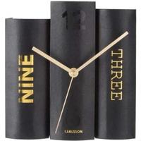カールソン◆KARLSSON KA5729◆テーブルクロックブック置時計◆ブラック◆Table Clock Book