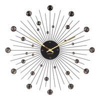 カールソン◆KARLSSON KA4859BK◆スパンコールのデザイン掛け時計(ブラック)◆Sunburst Large Wall Clock