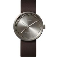 レフ アムステルダム◆LEFF amsterdam Tube D42◆腕時計◆スチール、ブラウンレザー