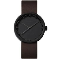レフ アムステルダム◆LEFF amsterdam Tube D42◆腕時計◆ブラック、ブラウンレザー