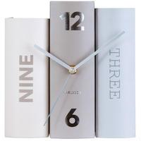 カールソン◆KARLSSON KA5628◆テーブルクロックブック置時計◆グレー◆Table Clock Book