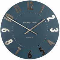 トーマスケント◆THOMAS KENT  AMC12014◆掛け時計◆アラビア時計ミッドナイトブルー◆直径30㎝