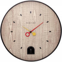 NEXTIME◆NEXT  5220ZW◆ブラックナイチンゲール 壁掛け時計◆ø 30 cm x 7,9 cm◆Nightingale Blackカッコウ時計