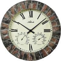 アトランタ◆Atlanta 4479◆温度計と湿度計付き・屋内外の壁掛け時計◆アトランタバイパラゴン