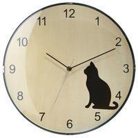 ソムペックス◆Sompex Clocks  8028◆猫のいる 掛け時計(黒猫)◆クォーツムーブメント
