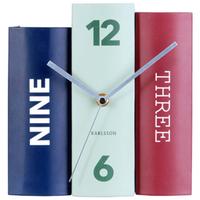 カールソン◆KARLSSON KA5629◆テーブルクロックブック置時計◆ミックス①◆Table Clock Book