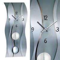 アームス ◆AMS 7246 ◆フロストガラス振り子付き掛け時計◆ドイツ製クォーツムーブメント