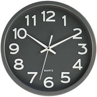 JVD◆HX2413.2◆シンプルウォールクロック 壁掛け時計 (ダークグレー)◆チェコ共和国、東欧時計