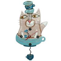 アレン デザイン スタジオ◆P1754◆ティーカップと猫◆ALLEN DESIGN  STUDIO