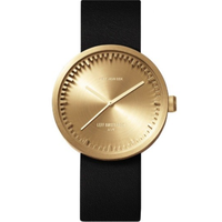 レフ アムステルダム◆LEFF amsterdam Tube D42◆腕時計◆ブラス、ブラックレザー