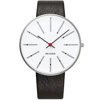 アルネ・ヤコブセン◆ARNE JACOBSEN 53103-2201◆バンカース腕時計◆ Leather 46mm◆ROSENDAHL