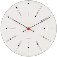 ローゼンダール◆アルネ・ヤコブセン◆43630◆BANKERS・ バンカーズ 掛け時計 (白、21㎝)◆Arne Jacobsen