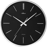 アトランタ◆Atlanta 4456/19◆ラウンド壁掛け時計・黒◆アトランタバイパラゴン