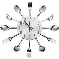 ショップセレクト◆Neues modernes Design ◆カトラリー壁掛け時計(31cm)◆ナイフとフォーク