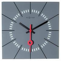 NEXTIME◆NEXT 8636GS◆Stazione・壁掛け時計(グレー)◆35 x 35 x 3.3cm◆エヴァルト・ウィンケルバウアー