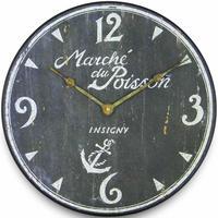 ロジャーラッセル◆Roger Lascelles◆PUB / POISSON 掛け時計◆アンティーク風