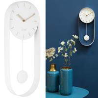 カールソン◆KARLSSON KA5822WH◆デザイン 振り子チャーム掛け時計(白)◆Pendulum Charm
