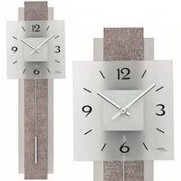 アームス ◆AMS 7322◆レザータッチの縮み模様 振り子時計◆ドイツ製クォーツムーブメント