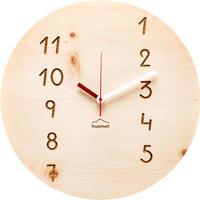 HUAMET◆CH40-H-13◆松材ラウンド・木目のデザイン壁掛け時計◆南チロル