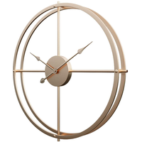 Yavso◆JJ2318I17BV2◆金属製のシンプルな壁掛け時計/金◆60 cm◆ノイズのない時計