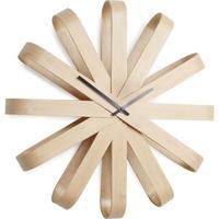 アンブラ◆Umbra 118071-390◆ステンレスリボン壁掛け時計◆木製(51㎝)◆ミシェル・イヴァンコビッチ