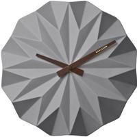 カールソン◆KARLSSON KA5531GY◆折り紙ウォーロック(グレー)◆Origami Wall Clock