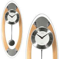 JVD◆NR16024 / 68◆モダンなデザインの壁掛け時計◆振り子時計◆チェコ共和国、東欧時計