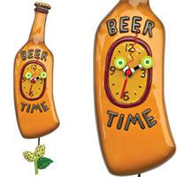 """アレン デザイン スタジオ◆P1710◆ """"Beer Time"""" ビール瓶/振り子時計◆ALLEN DESIGN  STUDIO"""