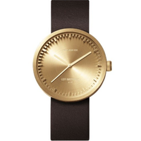レフ アムステルダム◆LEFF amsterdam Tube D42◆腕時計◆ブラス、ブラウンレザー