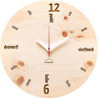 HUAMET◆CH40-C-01◆本物の松材ラウンド・木目の壁掛け時計◆南チロル