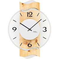 アームス ◆AMS 9623◆パイン材のデザイン掛け時計◆ドイツ製クォーツムーブメント