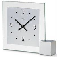 アームス ◆AMS 102◆ガラスとアルミの置き時計◆ドイツ製クォーツムーブメント