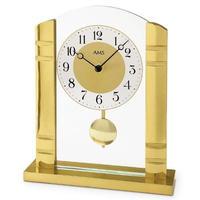 アームス ◆AMS  1117◆ゴールド振り子式置き時計◆ドイツ製クォーツムーブメント