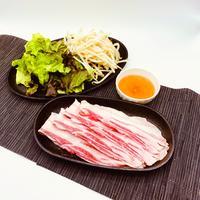 【在宅応援企画!送料無料】味わい黒豚しゃぶしゃぶ用肉とポン酢のセット