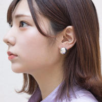 Planet (silver) 半球ピアス