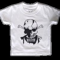 half dark skull Tシャツ