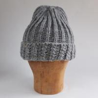 手編みニット帽子 Light Gray