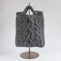 手編みニットBAG   Charcoal Gray
