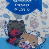 ねこぶちクリアファイル(猫渕黒渕) 51852002