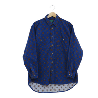 corduroy shirt【blue】
