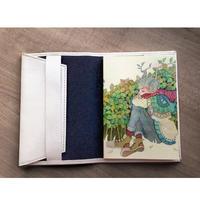【完売】牛革ブックカバーと文庫本ノートのセット《角》【数量限定】