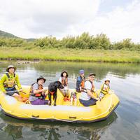 【サバソニクラファン 限定7名サバ】乗船中、川で一つはゴミ拾い「狩野川ラフト乗船券」
