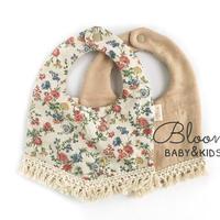 fringe baby bib [ floral ]